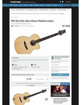 SE Alex Lifeson Thinline NAT