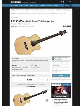 PRS SE A15AL Alex Lifeson Thinline