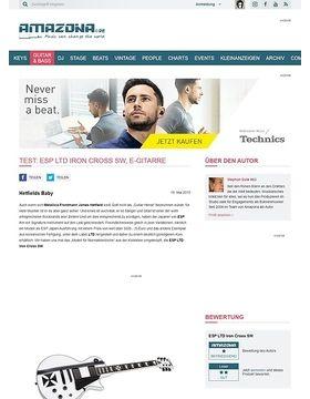 Test: ESP LTD Iron Cross SW, E-Gitarre