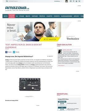 Test: Ampeg SCR-DI, Bass DI-Box mit Overdrive