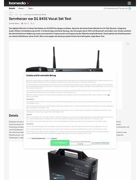 Sennheiser ew D1 845S Vocal Set