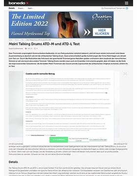 Meinl Talking Drums ATD-M und ATD-L