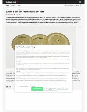Zultan Z Becken Professional Set