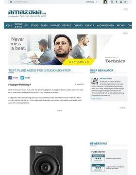 Test: Fluid Audio FX8, Studio Monitor