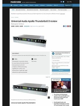 Universal Audio Apollo Thunderbolt 8