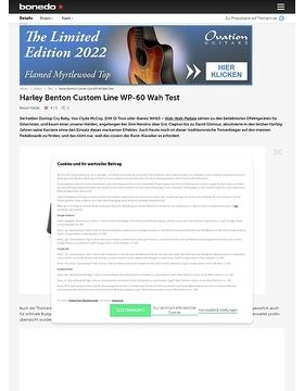 Harley Benton Custom Line WP-60 Wah