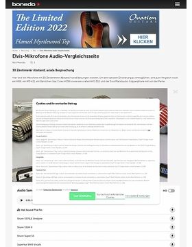 Elvis-Mikrofone Audio-Vergleichsseite