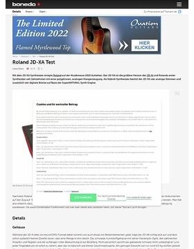 Roland JD-XA Test Preview