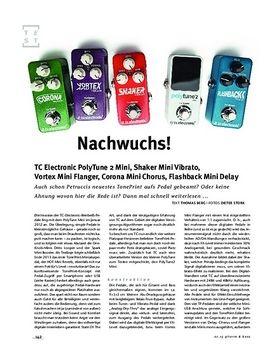 TC Electronic PolyTune 2 Mini, Shaker Vibrato Mini, Vortex Flanger Mini, Corona Chorus Mini, FX-Pedale