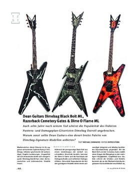 Dean Guitars Dimebag Dime O Flame ML, Dimebag Black Bolt ML, Razorback Cemetery Gates, E-Gitarren