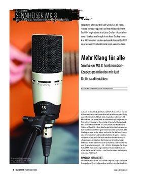 Sennheiser MK 8 - Großmembran-Kondensatormikrofon mit fünf Richtcharakteristiken