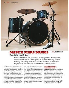 Mapex Mars Drums - Die neue Edition mit SoniClear-Gratung