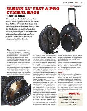 Sabian Fast & Pro Cymbal-Bags - Transportschutz für unsere Lieblinge