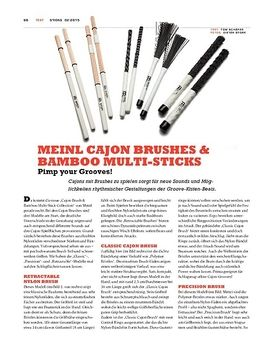 Meinl Cajon Brushes & Bamboo Multi-Sticks