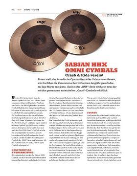 Sabian HHX Omni Cymbals
