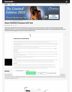 Shure PSM300 Premium K3E
