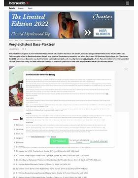 Testmarathon Bass-Plektren