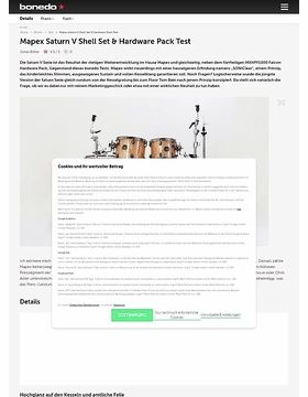 Mapex Saturn V Shell Set & Hardware Pack