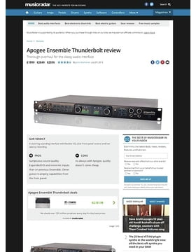 Apogee Ensemble Thunderbolt