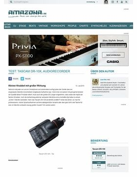 Test: Tascam DR-10X, Audiorecorder