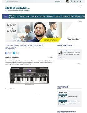 Test: Yamaha PSR-S670, Entertainer Keyboard
