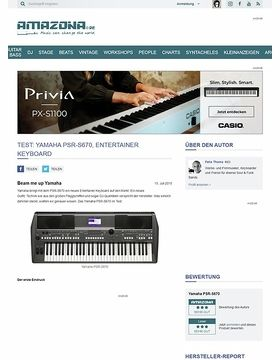 Test: Yamaha PSR-S670, Entertainer Keyboard