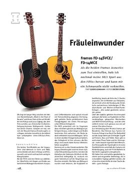 Framus FD-14SVCE/FD-14MCE, A-Gitarren