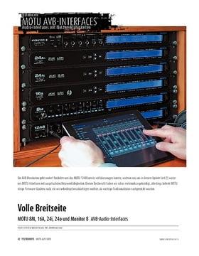 MOTU 8M, 16A, 24i, 24o und Monitor 8 - Audio-Interfaces mit Netzwerkfähigkeiten