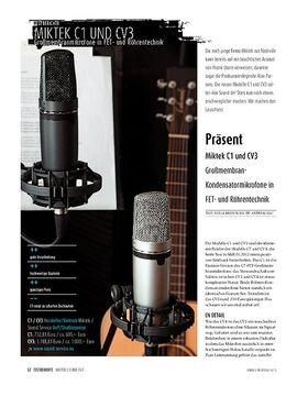 Miktek C1 und CV3 - Großmembran-Kondensatormikrofone in FET- und Röhrentechnik