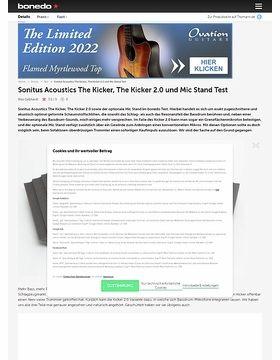 Sonitus Acoustics The Kicker, The Kicker 2.0 und Mic Stand