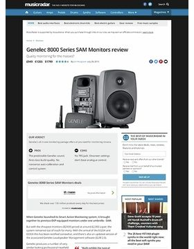 Genelec 8000 Series SAM Monitors