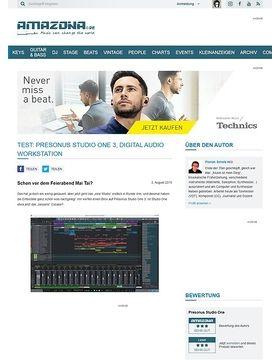 Test: Presonus Studio One 3, Digital Audio Workstation