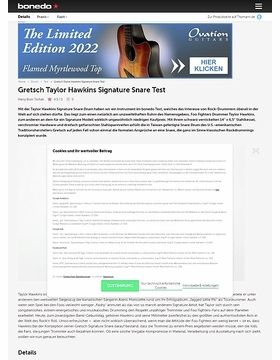 Gretsch Taylor Hawkins Signature Snare Drum