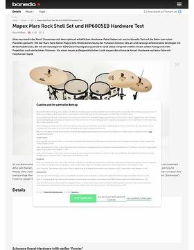 Mapex Mars Rock Shell Set und HP6005EB Hardware