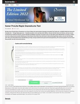 Sonor ProLite Maple Snaredrums