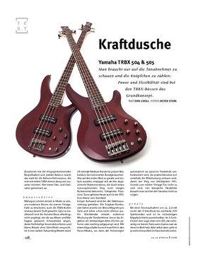 Yamaha TRBX 504 & 505, E-Bässe