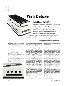Xotic Effects Wah XW-1, WaWah-Pedal