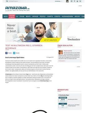 Test: IK Multimedia iRig 2, Gitarren-Interface