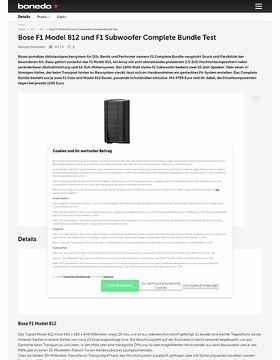 Bose F1 Complete Bundle