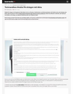 Testmarathon Portable-PA-Systeme mit Akku