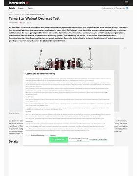 Tama Star Walnut Drumset