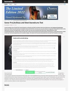 Sonor ProLite Brass und Steel Snaredrums