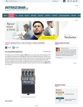 Test: BOSS RV-6, Hallpedal für Gitarre