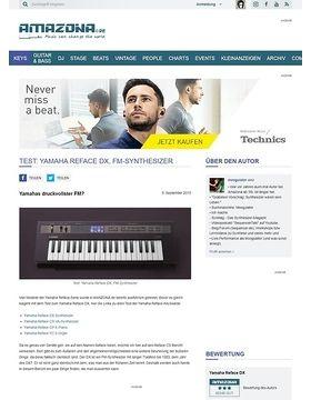 Test: Yamaha Reface DX, FM-Synthesizer