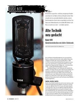 Røde NTR - Bändchenmikrofon mit Aktiv-Elektronik