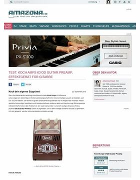 Test: Koch Amps 63'OD Guitar Preamp, Effektgerät für Gitarre