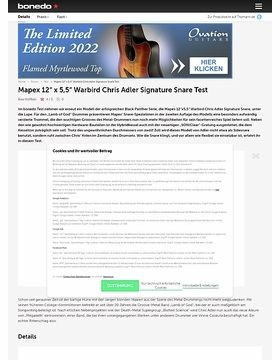 Mapex 12x5,5 Warbird Chris Adler Snare