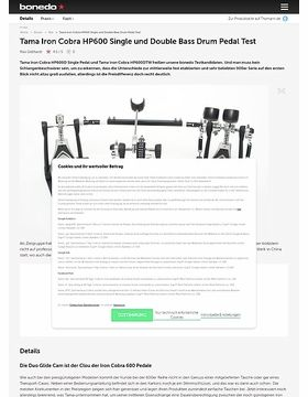 Tama Iron Cobra HP600 Single und Double Bass Drum Pedal