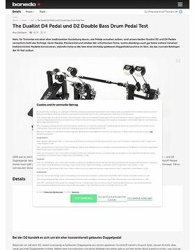 The Duallist D4 Pedal und D2 Double Bass Drum Pedal