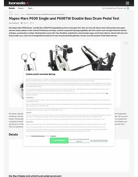Mapex Mars P600 Single und P600TW Double Bass Drum Pedal